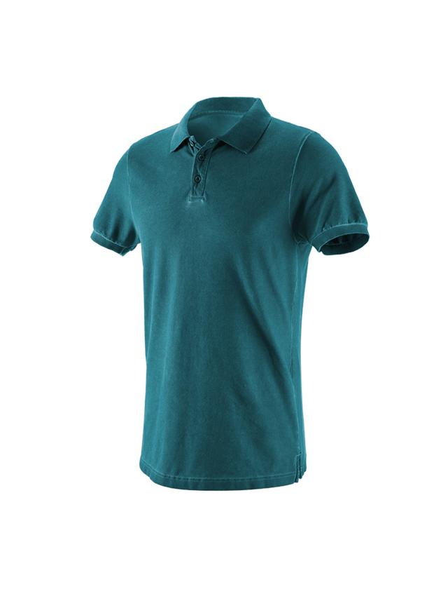 Överdelar: e.s. Polo-Shirt vintage cotton stretch + mörk cyan vintage