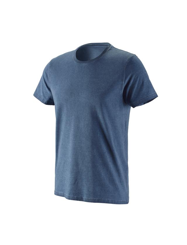 Överdelar: e.s. T-Shirt vintage cotton stretch + antikblå vintage