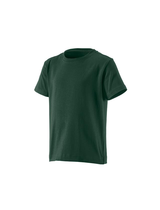 Överdelar: e.s. t-shirt cotton stretch, barn + grön