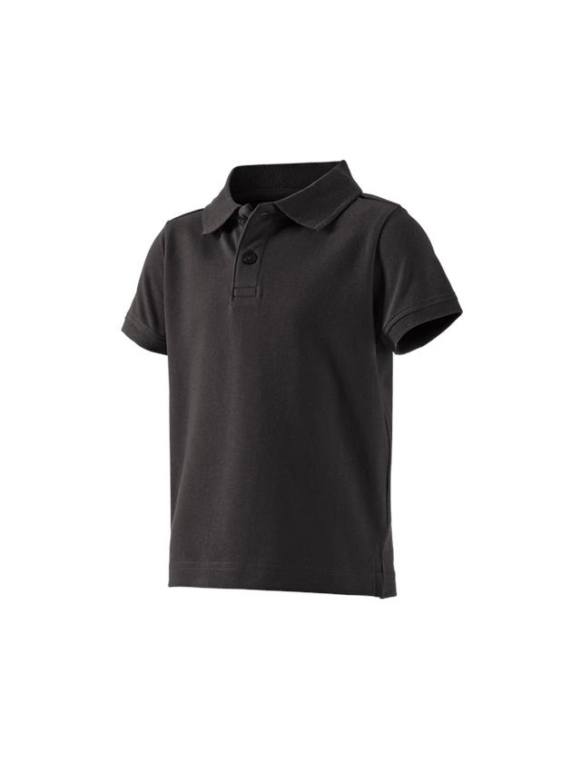 Överdelar: e.s. Polo-Shirt cotton stretch, barn + svart
