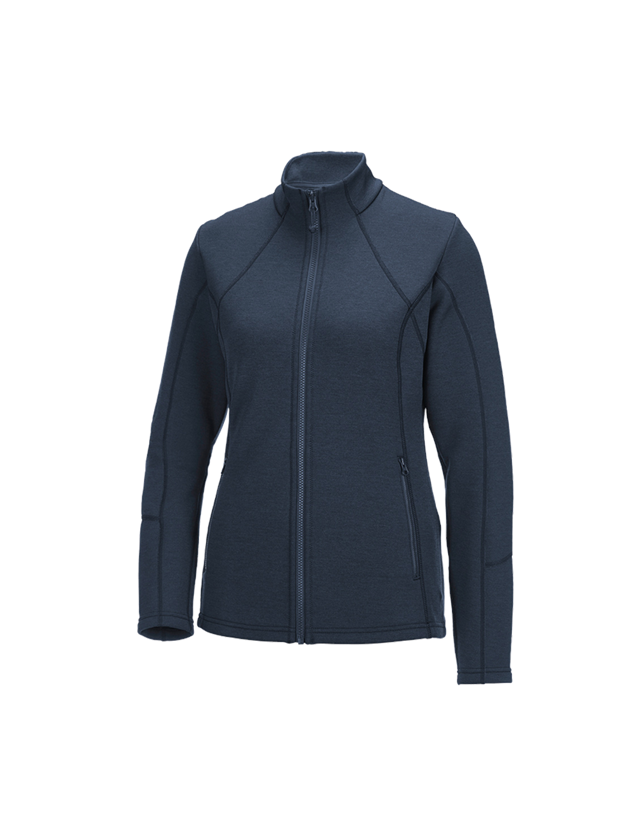 Work Jackets: e.s. Functional sweat jacket melange, ladies + pacific melange
