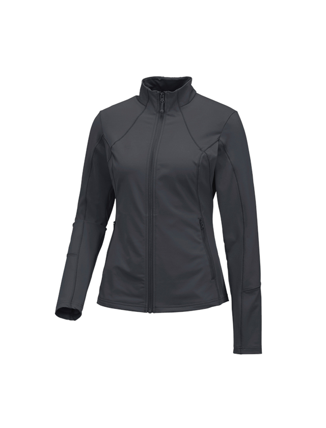 Work Jackets: e.s. Functional sweat jacket solid, ladies + anthracite