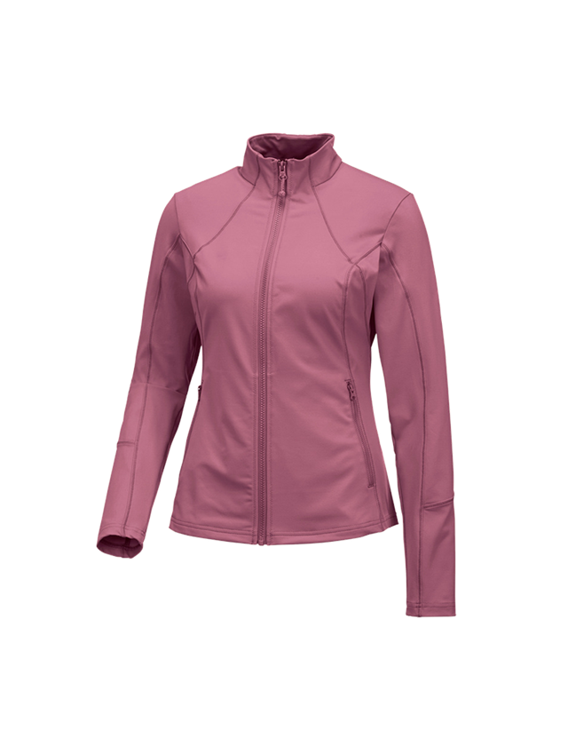 Work Jackets: e.s. Functional sweat jacket solid, ladies + antiquepink