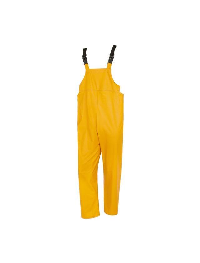Arbetsbyxor: Flexi-Stretch hängselbyxa + gul