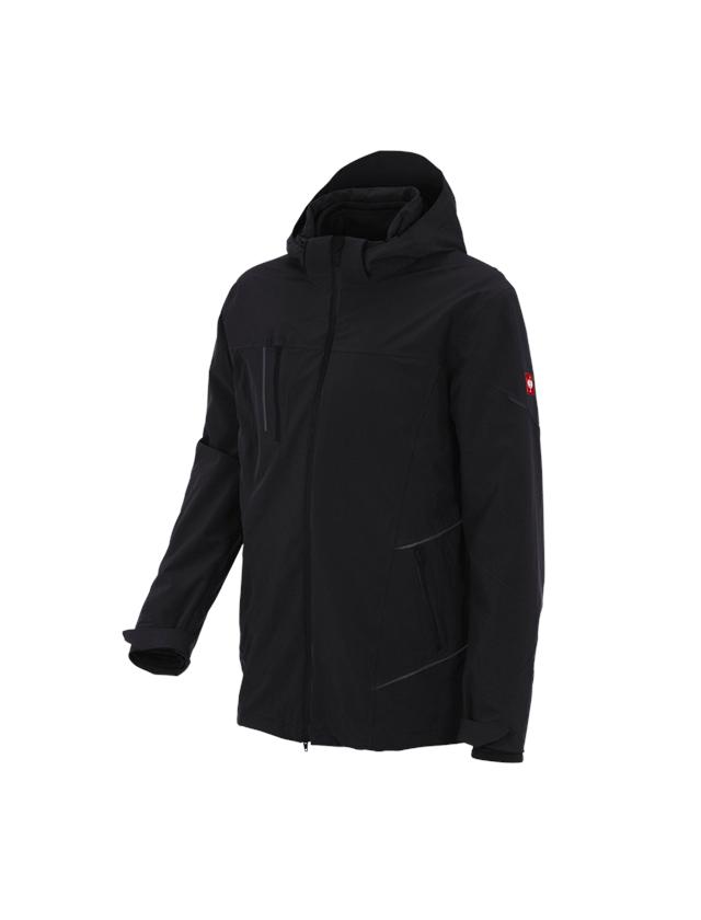 Work Jackets: 3 in 1 functional jacket e.s.vision, men's + black