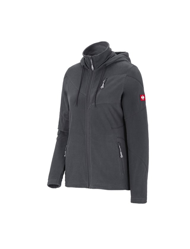 Work Jackets: Hooded fleece jacket e.s. motion 2020, ladies' + anthracite