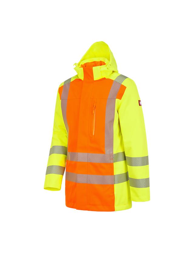 Work Jackets: High-vis functional parka e.s.motion 2020 + high-vis orange/high-vis yellow