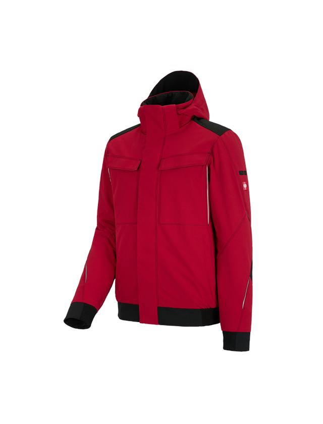 Work Jackets: Winter functional jacket e.s.dynashield + fiery red/black