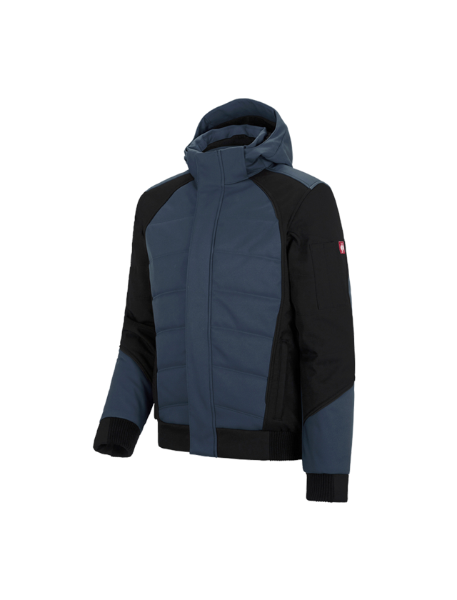 Work Jackets: Winter softshell jacket e.s.vision + pacific/black