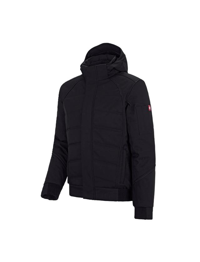 Work Jackets: Winter softshell jacket e.s.vision + black
