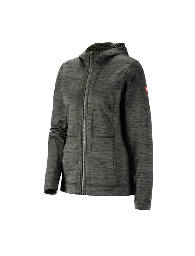 Work Jackets: Hooded jacket isocell e.s.dynashield, ladies' + thyme melange