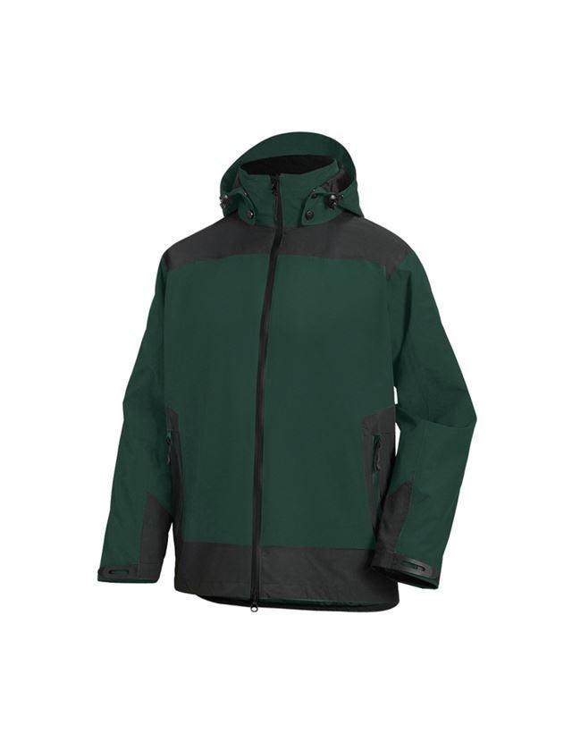 Work Jackets: e.s. 3 in 1 functional jacket, men + green/black