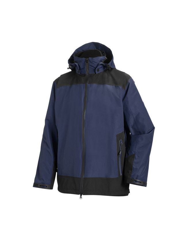Work Jackets: e.s. 3 in 1 functional jacket, men + navy/black