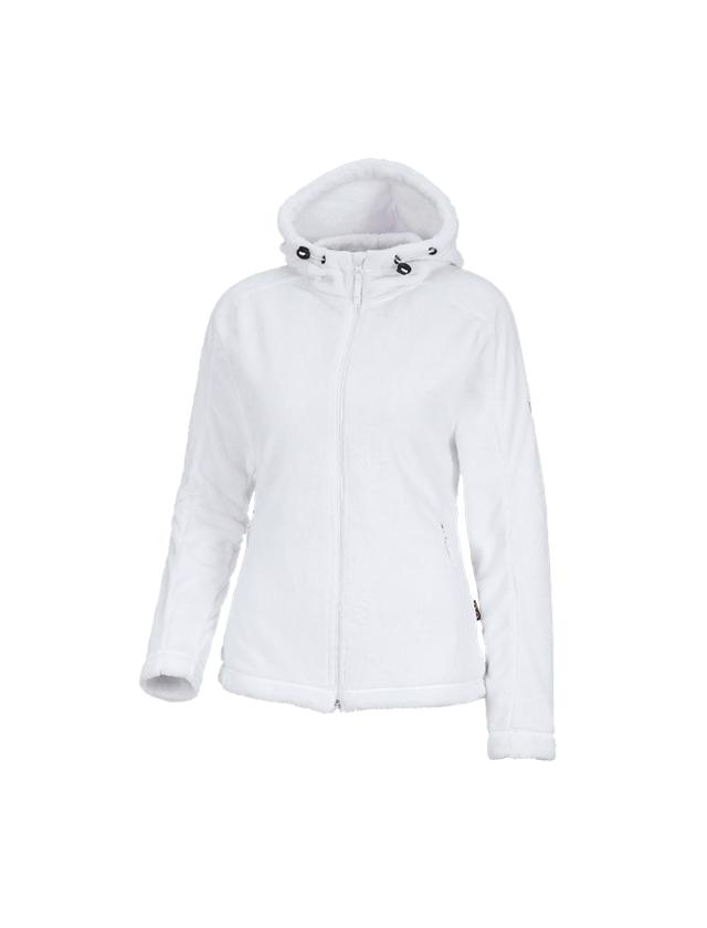 Work Jackets: e.s. Zip jacket Highloft, ladies' + white