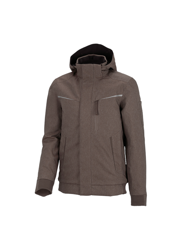 Work Jackets: Winter functional pilot jacket e.s.motion denim + chestnut