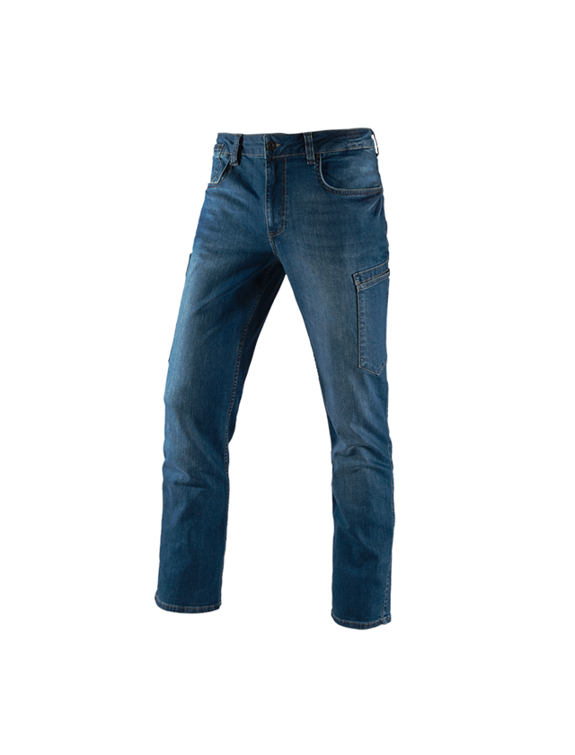 Work Trousers: e.s. 7-pocket jeans + stonewashed