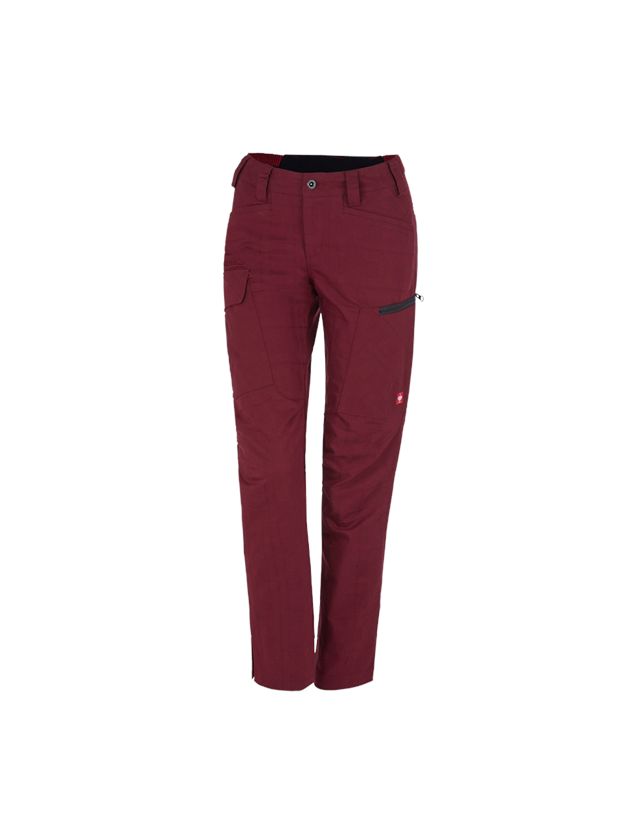 Work Trousers: e.s. Trousers pocket, ladies' + ruby