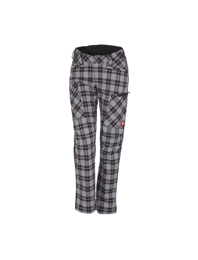 Work Trousers: e.s. Trousers pocket, ladies' + black/white/red