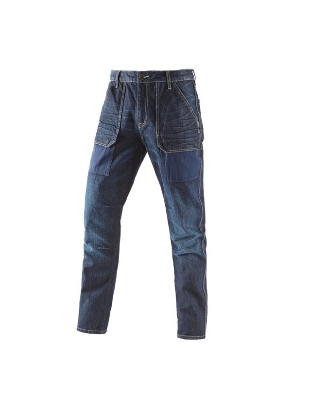 Arbetsbyxor: e.s. 7-fickors-jeans POWERdenim + darkwashed
