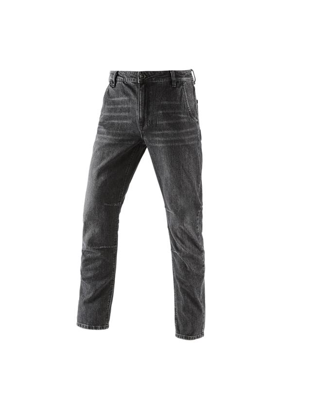 Arbetsbyxor: e.s. 5-fickors-jeans POWERdenim + blackwashed