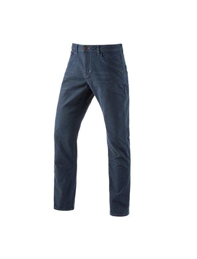 Arbetsbyxor: 5-ficks-byxa e.s.vintage + arktisk blå