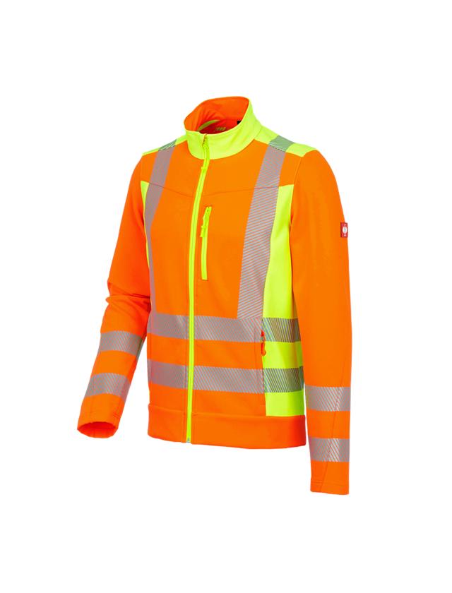Arbetsjackor: Varsel-softshelljacka softlight e.s.motion 2020 + varselorange/varselgul