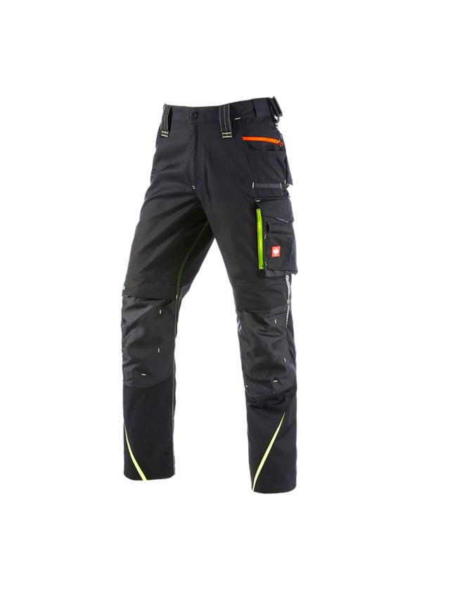 Work Trousers: Winter trousers e.s.motion 2020, men´s + black/high-vis yellow/high-vis orange