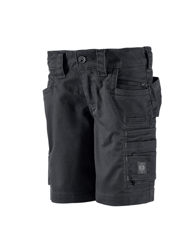 Shorts: Shorts e.s.motion ten, barn + oxidsvart