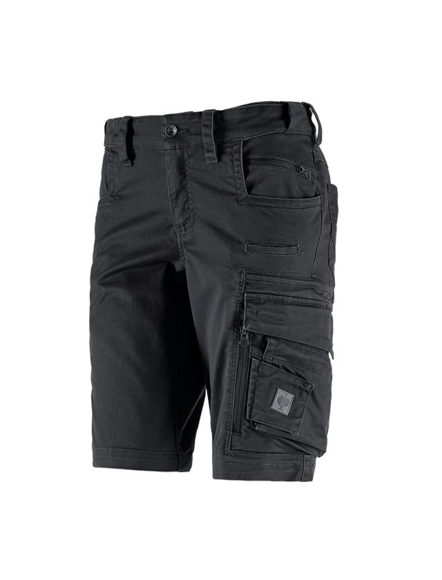 Arbetsbyxor: Shorts e.s.motion ten, dam + oxidsvart