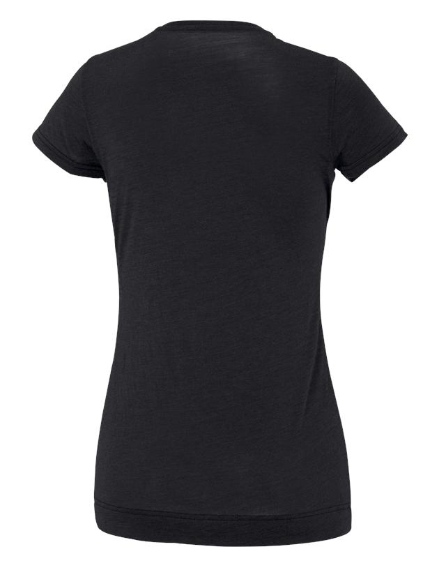 Shirts, Pullover & more: e.s. T-shirt Merino light, ladies' + black 1