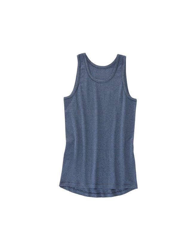 Underkläder    Underställ: e.s. finribbad undertröja classic + mörkblå randig