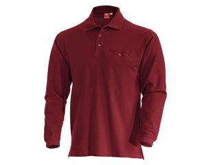 e.s. Longsleeve-Polo cotton Pocket