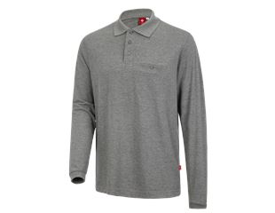 e.s. Long sleeve polo cotton Pocket
