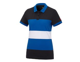 e.s. Pique-Polo cotton stripe, ladies'