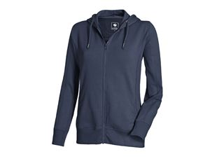 Hoody sweatjacket poly cotton, ladies'