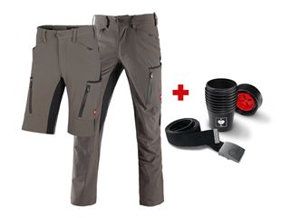 Cargo trousers e.s.vision stretch+Shorts+belt+cup