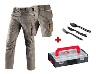 Trousers e.s.motion Summer+Shorts+cutlery set+boxx