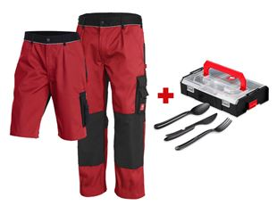 Trousers e.s.image +Shorts+cutlery set +boxx