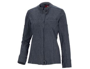 Work jacket long sleeved stripe e.s.fusion,ladies'
