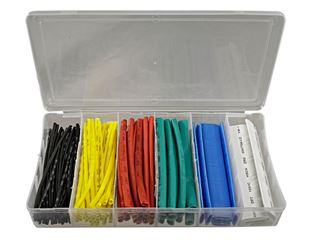 Heat shrinkage tube assortment, coloured