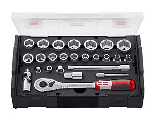 e.s. Socket wrench set pro 3/8 in e.s. Boxx mini