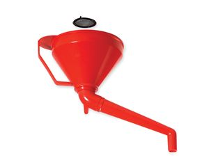 Combi-funnel with angled outlet