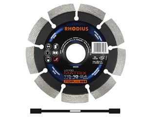 Rhodius diamond cutting wheel for processing stone