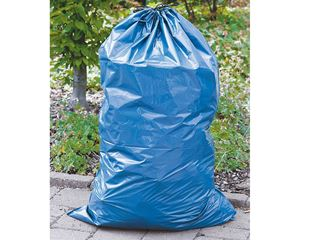 Rubbish sack with drawstring