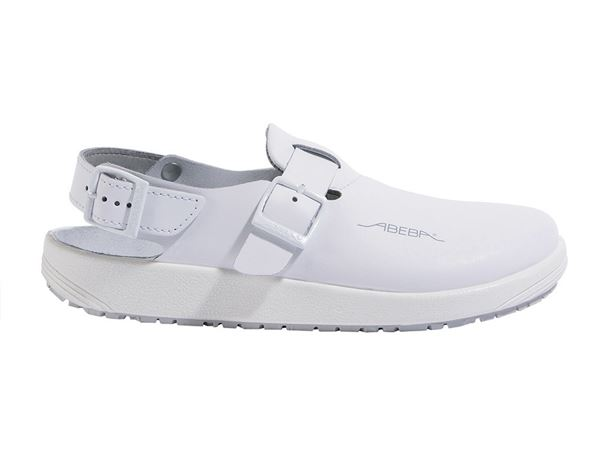 Work Clogs / Slip-ons OB: ABEBA OB Ladies' and men's clogs Hawaii + white