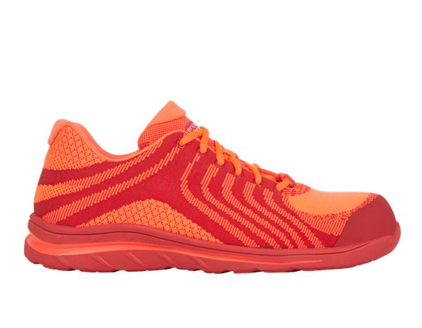 Safety Shoes S1: e.s. S1 Safety shoes Tarvos + high-vis orange/red