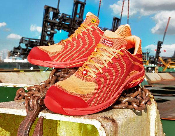 Safety Shoes S1: e.s. S1 Safety shoes Tarvos + high-vis orange/red 1