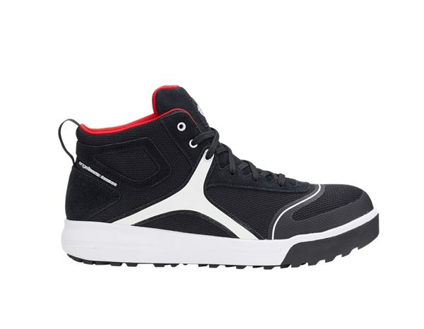 Safety Shoes S1: e.s. S1 Safety boots Vasegus mid + black/white
