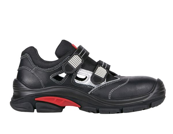 Safety Shoes S1P: S1P Safety sandals Nürnberg + black