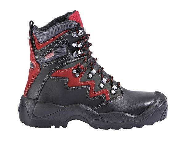 Safety Boots S3: S3 Winter safety boots Lech + black/anthracite/red